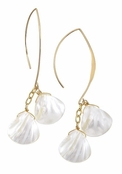 Spring Street Mother Nature Double Shell Drop Earrings