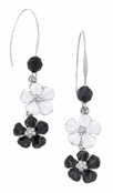 Spring Street Casablanca Stacked Flower Drop Earrings