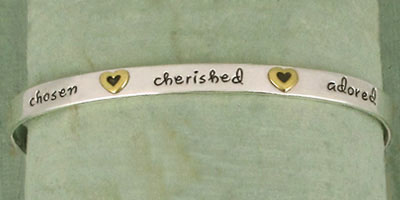 Chosen Cherished Adored Sterling Silver Cuff Bracelet by Far Fetched