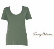 Mudstone Indio Tee Scoop Neck T Shirt by Tommy Bahama