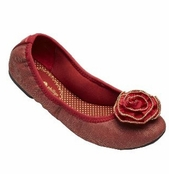 Lindsay Phillips Red Canvas Liz Ballet Flats