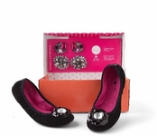 Black Velvet Liz Ballet Flats Bling in a Box by Lindsay Phillips