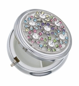 Spring Street Multi Crystal Floral Menagerie Pill Box