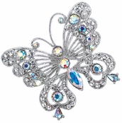 Large Crystal AB Butterfly Pin by Spring Street