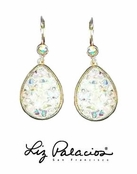 Swarovski Crystal AB Teardrop Earrings by Liz Palacios