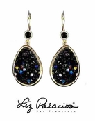 Swarovski Crystal Jet Teardrop Earrings by Liz Palacios