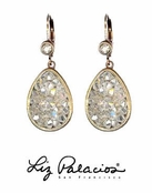 Swarovski Crystal Silver Shade Teardrop Earrings by Liz Palacios
