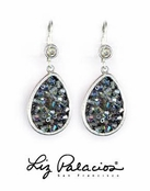 Swarovski Crystal Black Diamond Teardrop Earrings by Liz Palacios