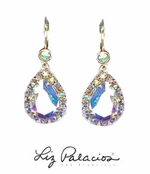 Swarovski Crystal AB Framed Teardrop Earrings by Liz Palacios