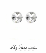 Swarovski Crystal Large Cushion Solitaire Earrings by Liz Palacios