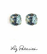 Swarovski Crystal Large Cushion Light Azore Solitaire Earrings by Liz Palacios