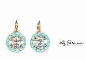 Swarovski Crystal Bold Faceted Framed Leverback Earrings by Liz Palacios
