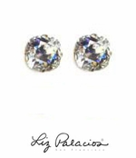 Swarovski Crystal Bold Faceted Moonlight Solitaire Earrings by Liz Palacios