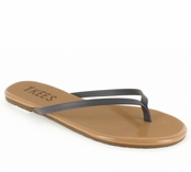 Tkees Colored Tips Collection Iron Dove Leather Sandals