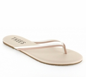 Tkees Duos Collection Bare White Leather Sandals