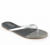 Tkees French Tips Collection Silver Storm Leather Sandals