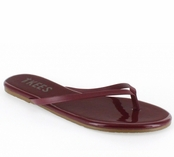 Tkees Lip Gloss Collection Maroon Madness Leather Sandals
