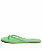 Tkees Zincs Collection Neon Green Leather Sandals