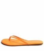 Tkees Zincs Collection Neon Orange Leather Sandals