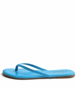 Tkees Zincs Collection Neon Blue Leather Sandals