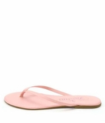 Tkees Blushes Collection Pink Petal Leather Sandals