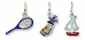 Sterling Silver Enameled Sports Charms