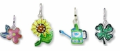 Sterling Silver Enameled Garden Charms