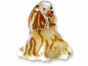 Cocker Spaniel Sterling Silver Enameled Pin