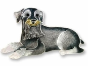 Schnauzer Sterling Silver Enameled Pin