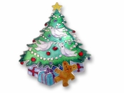Christmas Morning Sterling Silver Enameled Pin