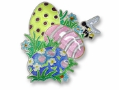 Hidden Eggs Sterling Silver Enameled Pin
