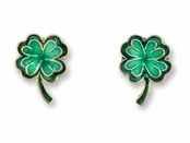 Lucky Clover Vermeil Enameled Earrings