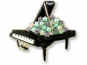 Piano Muse Enameled Vermeil Pin