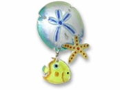 Sea Life Trio Sterling Silver Enameled Pin