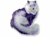 Persian Cat Sterling Silver Enameled Pin