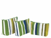 Sunrise Stripe Zip Bags Set of Three by rockflowerpaper