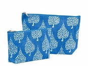 Crete Blue Zip Bags Set of Two by rockflowerpaper