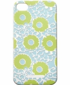 Imperial Rosette Mint Texture Iphone 4 4S Case by rockflowerpaper