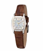 Women's Barrel Case Brown Croco Leather Band Watch by Kenneth Cole