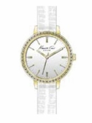 Women's Gold Round Case Crystal Bezel Watch by Kenneth Cole