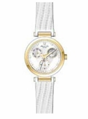 Women's Gold Round Case White Band Watch by Kenneth Cole