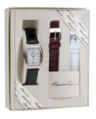 Women's Silver & Rose Gold Barrel Case Watch Set by Kenneth Cole