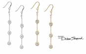 Triple Drop French Hook Earrings by Debra Shepard
