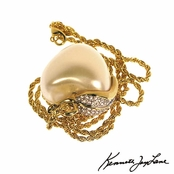 Pearl Apple Pendant Necklace by Kenneth Jay Lane