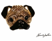 Pug Pin by Kenneth Jay Lane