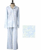 Pima Cotton Notch Collar PJ by Carole Hochman