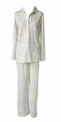 Buttercup Coastal Morning Toile Notch Collar PJ's by Carole Hochman