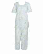 Carole Hochman Angel Blue Morningside Floral Crop Pajama