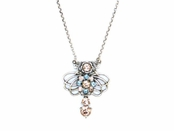 Swarovski Crystal Peach Aqua Pendant Necklace by Kenny Ma