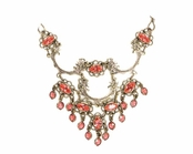 Swarovski Crystal Vintage Filigree Chandelier Necklace by Kenny Ma